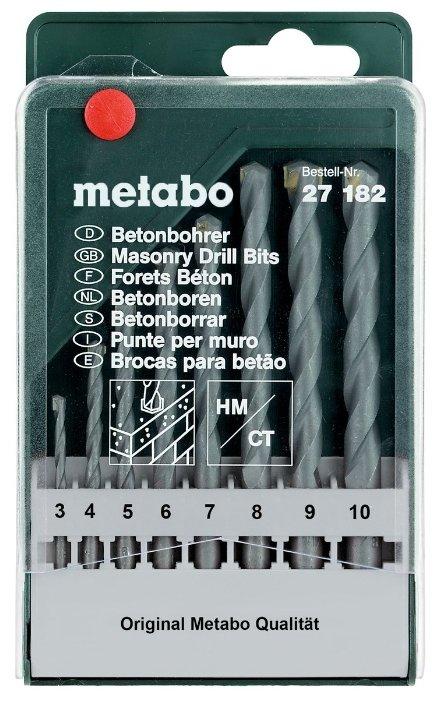 Набор сверл Metabo Classic 627182000, 8 шт.