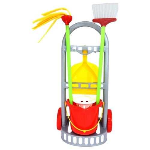 Купить Набор Palau Toys Чистюля-мини 44747/42910 серый/красный/желтый, Детские кухни и бытовая техника