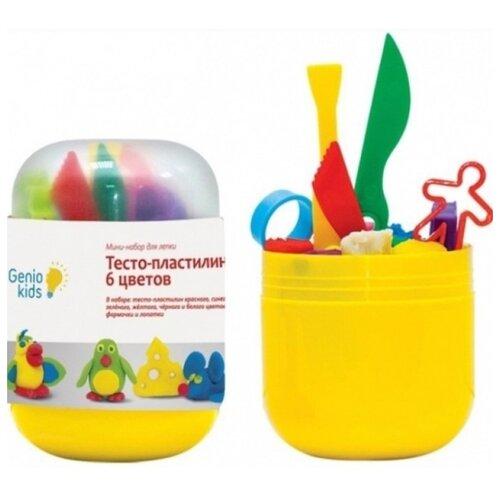 Купить Масса для лепки Genio Kids Moony Love 6 цветов (TA1065), Пластилин и масса для лепки