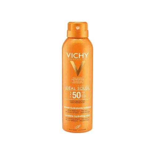 Vichy Capital Ideal Soleil спрей-вуаль увлажняющий SPF 50 200 мл vichy спрей двухфазный увлажняющий spf 30 200 мл vichy capital ideal soleil
