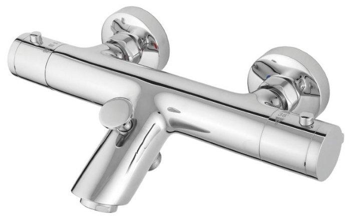 Смеситель для ванны с душем Rubineta Thermo-10 двухрычажный с термостатом хром