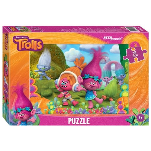 Фото - Пазл Step puzzle DreamWorks Trolls (91222), 35 дет. пазл step puzzle dreamworks trolls 94056 160 дет