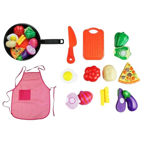 Купить Набор продуктов с посудой Yako Моей Малышке M7078-3 разноцветный, Игрушечная еда и посуда