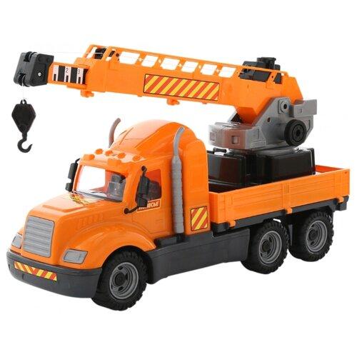 Купить Автокран Wader Майк в коробке (61966) 73 см, Машинки и техника