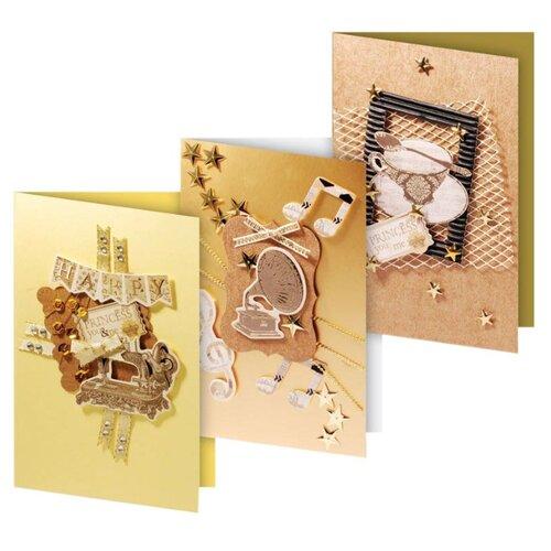 Купить Набор для создания открыток Белоснежка 11, 5x17 см, 3 шт, Кофейный бежевый, Бумага и наборы