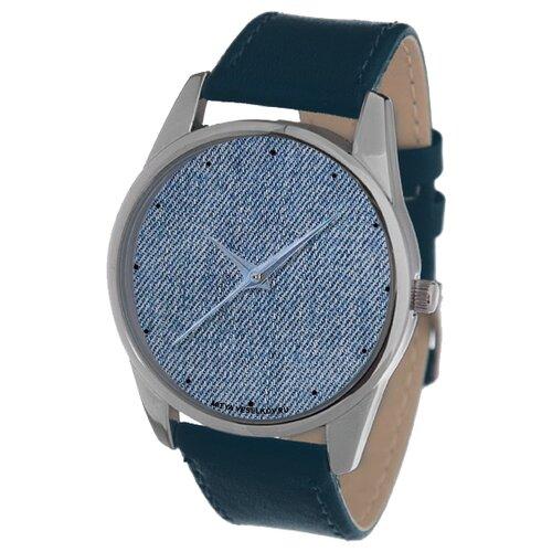 цена Наручные часы Mitya Veselkov Джинсовый принт (темно-синий) (Color-113) онлайн в 2017 году