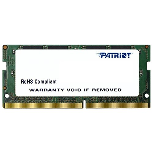 Оперативная память Patriot Memory Signature DDR4 2400 (PC 19200) SODIMM 260 pin, 4 ГБ 1 шт. 1.2 В, CL 17, PSD44G240082S  - купить со скидкой