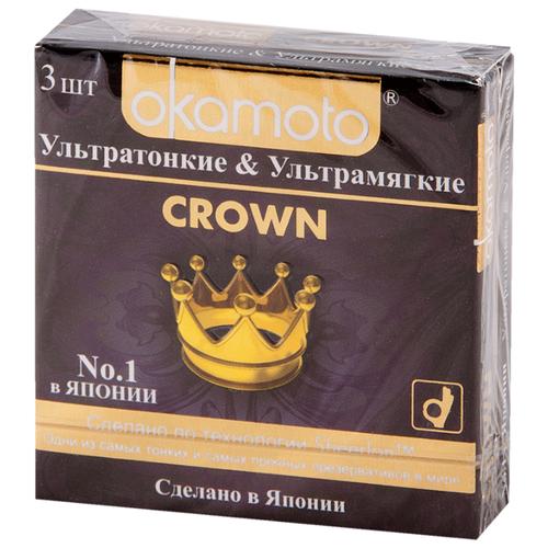 Презервативы Okamoto Crown 3 шт.Презервативы<br>