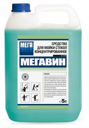Жидкость Мега Мегавин для мойки стекол