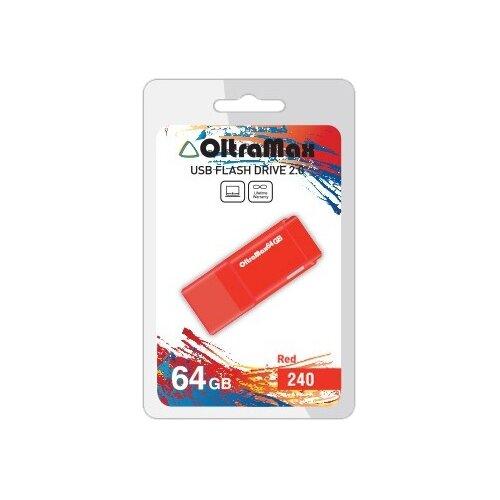 Фото - Флешка OltraMax 240 64GB red флешка oltramax 240 16gb red