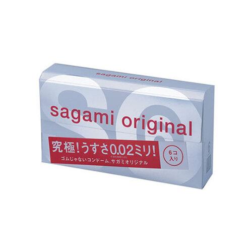 Презервативы Sagami Original 0.02 (6 шт.) sagami 6 fit v premium 12шт презервативы супер облегающие латекс 0 06 мм