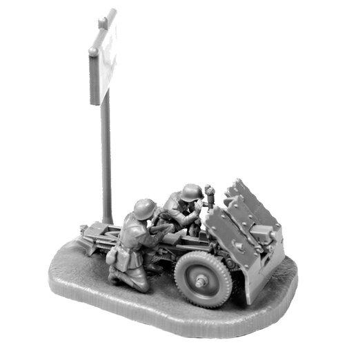 Фото - Сборная модель ZVEZDA Немецкое 75-мм пехотное орудие с расчетом (6156) 1:72 сборная модель zvezda немецкий 81 мм миномет с расчетом 1939 1942 6111 1 72