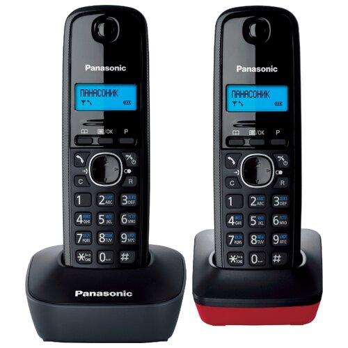 Купить Радиотелефон Panasonic KX-TG1612 серый/красный