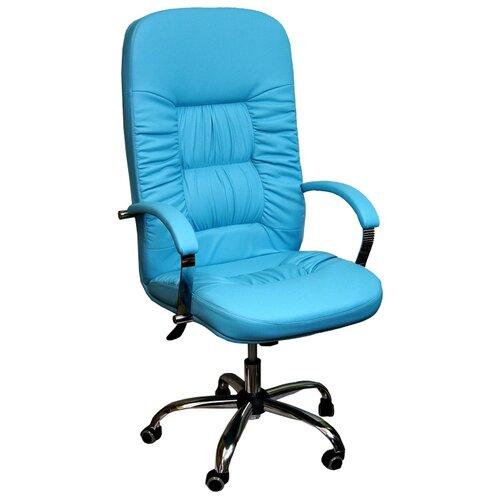 цена на Компьютерное кресло Креслов Болеро КВ-03-131112, обивка: искусственная кожа, цвет: лазурный