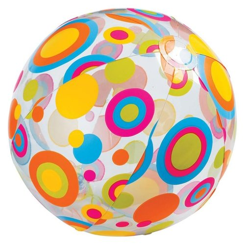 цена на Пляжный мяч Intex 59040 разноцветные квадраты