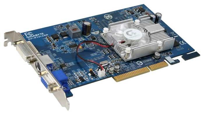 GIGABYTE Видеокарта GIGABYTE Radeon X1300 450Mhz AGP 128Mb 500Mhz 64 bit DVI TV YPrPb