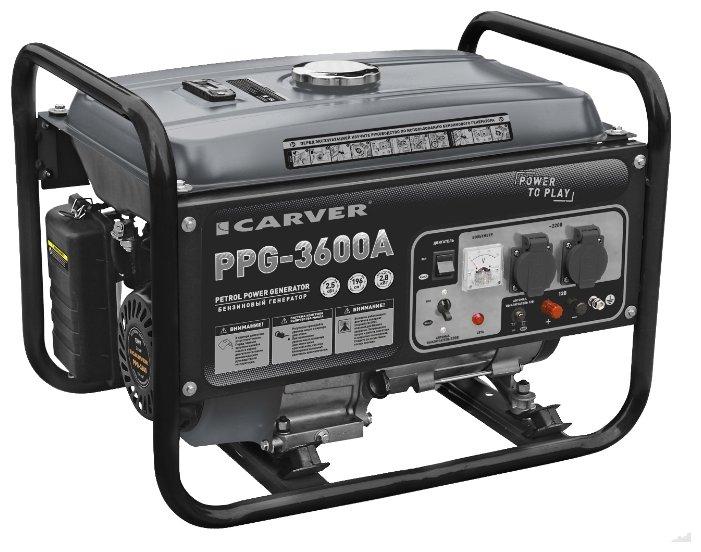 Бензиновый генератор Carver PPG-3600A (2500 Вт)