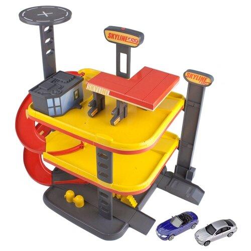 Купить HTI Гараж многоуровневый Скайлайн Teamsterz: Skyline Garage 1415944 красный/черный/желтый, Детские парковки и гаражи