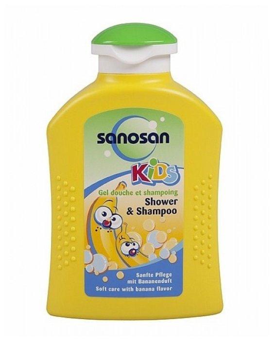 Sanosan Kids Гель для душа и шампунь с ароматом банана
