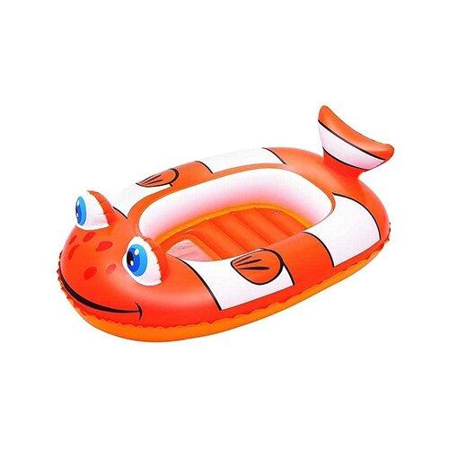 Лодочка надувная Bestway Рыба-клоун 34089 BW оранжевый/белый надувная лодочка bestway рыбки 34036 bw желтый