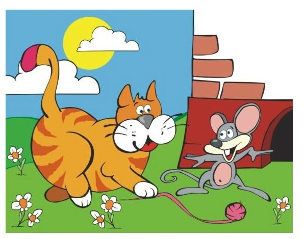 Картинки для детей мышка и котенок