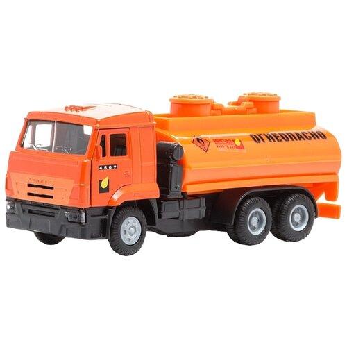 Автоцистерна ТЕХНОПАРК КамАЗ (CT12-457-5WB) 1:43 17 см оранжевый