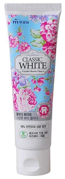 Зубная паста Mukunghwa Classic White Scarlet Beauty Clinic с ароматом мяты и ягод