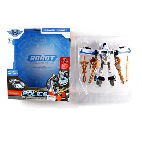 Купить Трансформер Shantou Gepai Police L015-8 бело-черно-золотой, Роботы и трансформеры