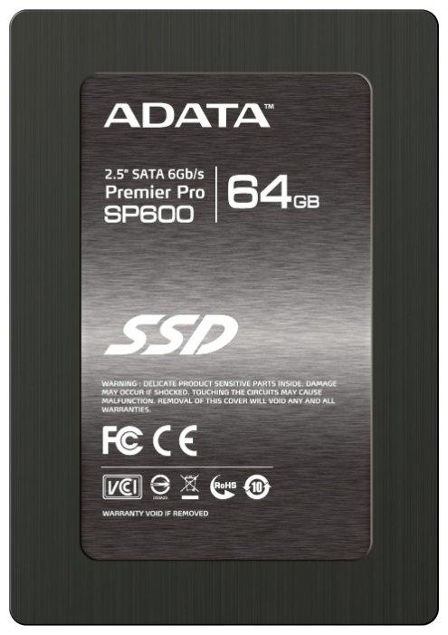 Твердотельный накопитель ADATA Premier Pro SP600 64GB