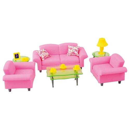 Купить Dolly Toy Гостиная люкс (DOL0803-015) розовый/зеленый, Мебель для кукол