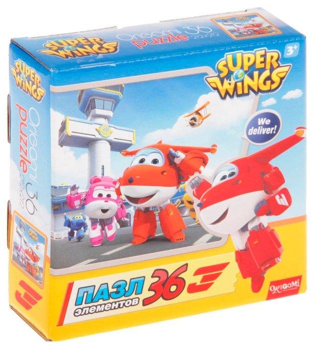 Пазл Origami SuperWings Джетт и команда (02802), 36 дет.