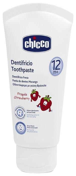 Chicco Зубная паста со вкусом клубники с 12 месяцев