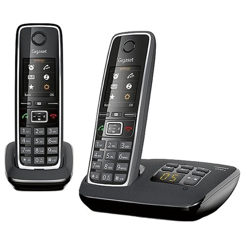 Радиотелефон Gigaset C530A Duo черный gigaset c530a ip черный