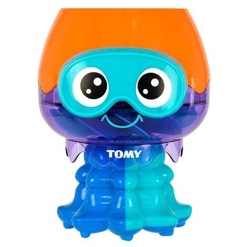 Купить Игрушка для ванной Tomy Весёлая медуза (E72548) синий/оранжевый, Игрушки для ванной