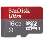 Карта памяти SanDisk Ultra microSDHC Class 10 UHS-I 48MB/s + SD adapter