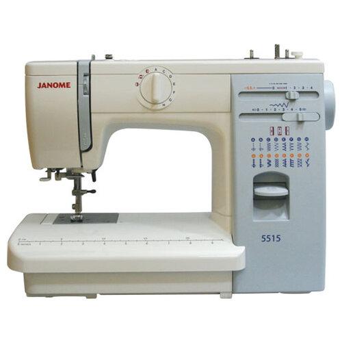 Швейная машина Janome 415 / 5515, бело-голубой