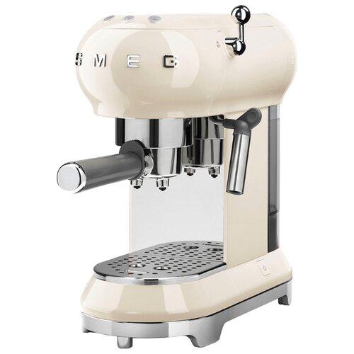 Кофеварка рожковая smeg ECF01 кремовый
