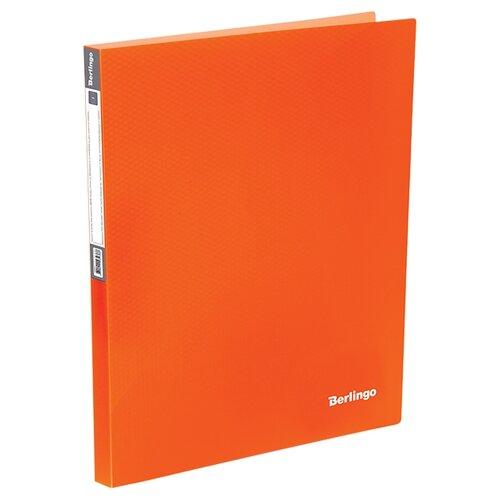 Фото - Berlingo Папка на 4-х кольцах Neon A4, 25 мм, 700 мкм, пластик оранжевый berlingo папка с 20 вкладышами neon a4 14 мм 700 мкм пластик зеленый