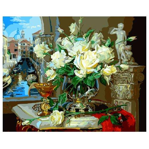 Купить ВанГогВоМне Картина по номерам Венеция и Розы , 40х50 см (ZX 20951), Картины по номерам и контурам