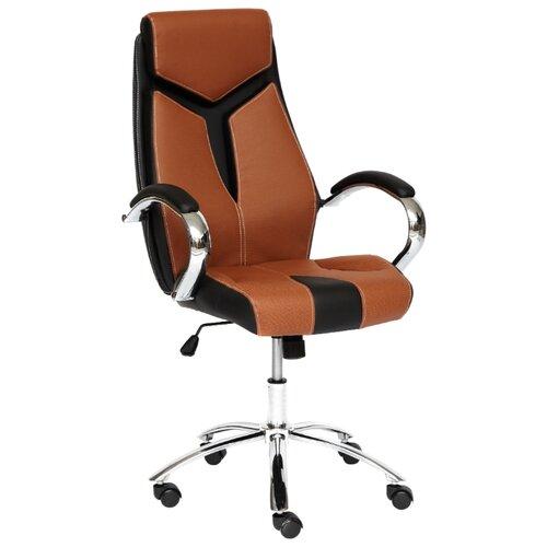 Компьютерное кресло TetChair Gloss офисное, обивка: искусственная кожа, цвет: коричневый/черный компьютерное кресло tetchair jazz офисное обивка искусственная кожа цвет бежевый коричневый 4230