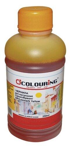 Купить Чернила COLOURING для CANON /EPSON /HP /LEXMARK универсальные, желтые, 0,25 л, водные, 5180000094 по низкой цене с доставкой из Яндекс.Маркета