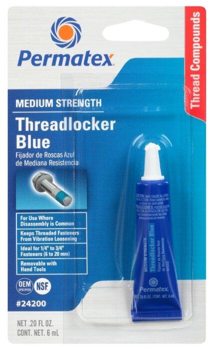 Фиксатор резьбовых соединений средней фиксации разъемный PERMATEX Threadlocker Blue 09178/19960/24200/24206/24240