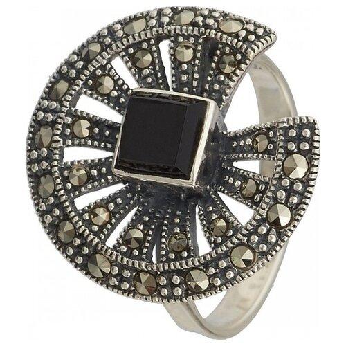 Фото - МАРКАЗИТ Кольцо с хризопразами и марказитами из серебра HR1034, размер 18 марказит кольцо с хризопразами и марказитами из серебра hr1229 размер 18