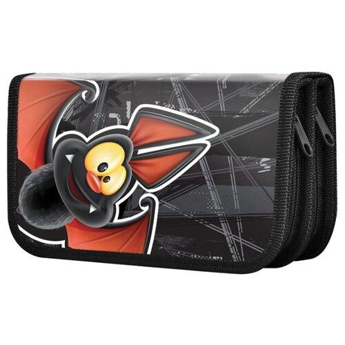 Купить BRAUBERG Пенал Летучая мышь (228102) черный, Пеналы