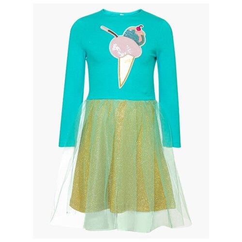 Платье Nota Bene размер 116, мятный леггинсы nota bene размер 116 мятный