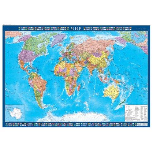 Купить Атлас Принт Карта Мира политическая (4631147224729), 70 × 100 см, Карты