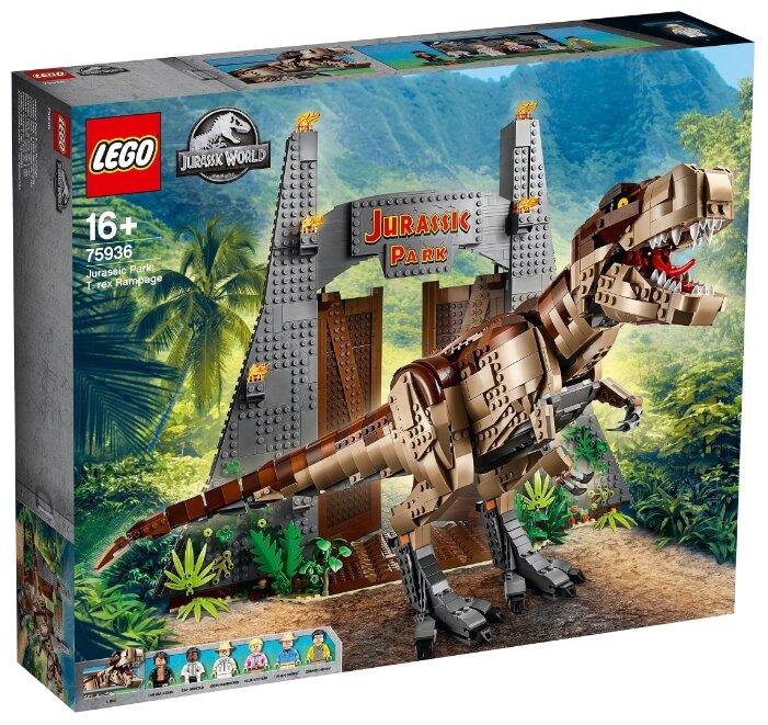 Конструктор LEGO Jurassic World 75936 Ярость Ти-Рекса