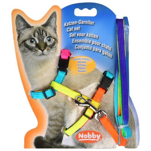 Комплект Nobby 72220 (шлейка + поводок) радуга