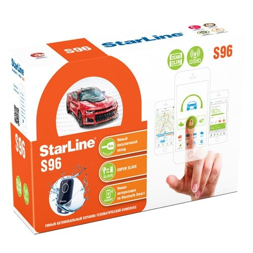 Автосигнализация StarLine S96 BT 2CAN+2LIN GSM автосигнализация starline a93 2can 2lin