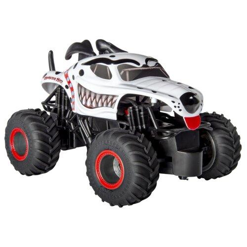 Купить Монстр-трак Monster Jam Dalmatian 1:24 белый/черный, Радиоуправляемые игрушки